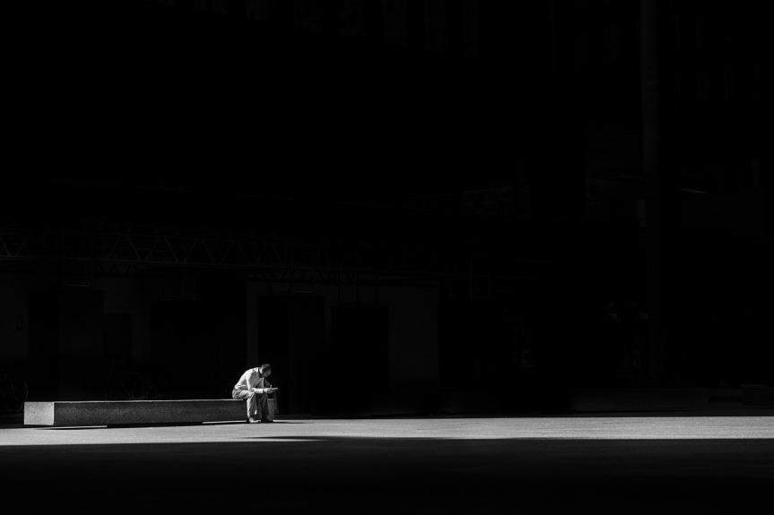 Mit der Einsamkeitleben